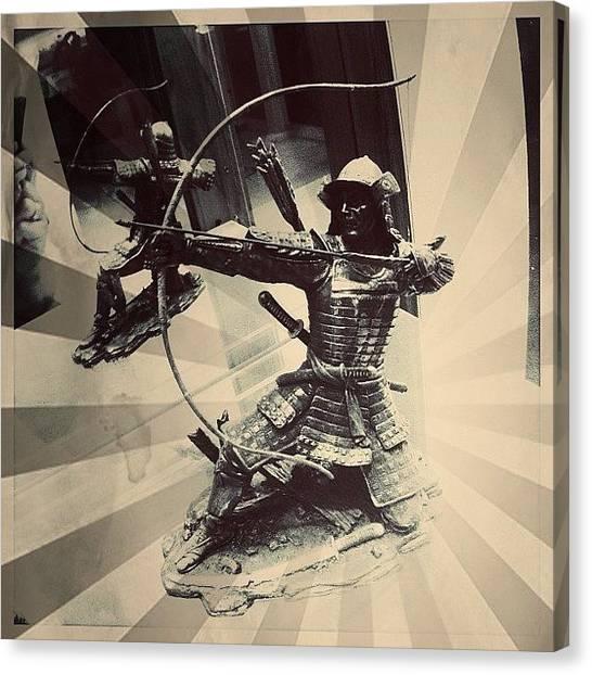 Samurai Canvas Print - #figurine #samurai #archer #warrior by Aka J