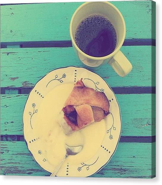 Tea Canvas Print - Fika Aka Swedish Afternoon Tea by Deni M