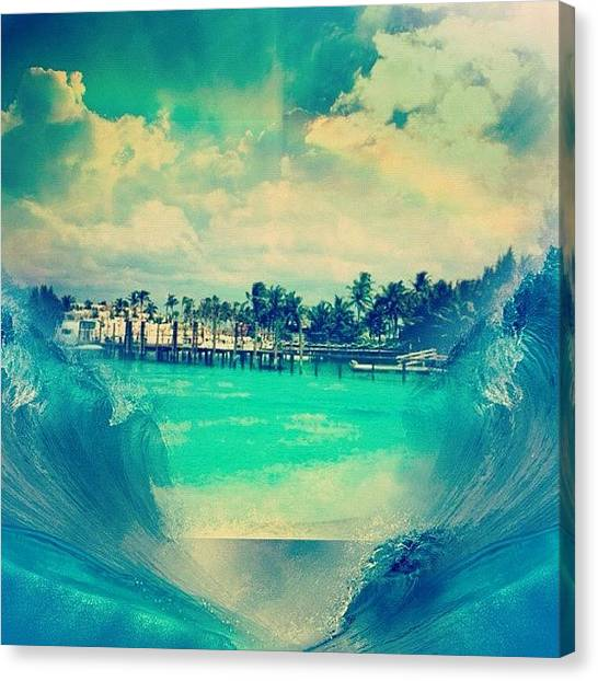 Anniversary Canvas Print - #filtermania #edit #bahamas #1998 by Lori Lynn Gager