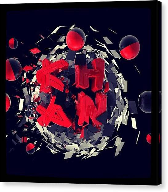 Shapes Canvas Print - Final Art Exam Typography - #design by Junaid Khan