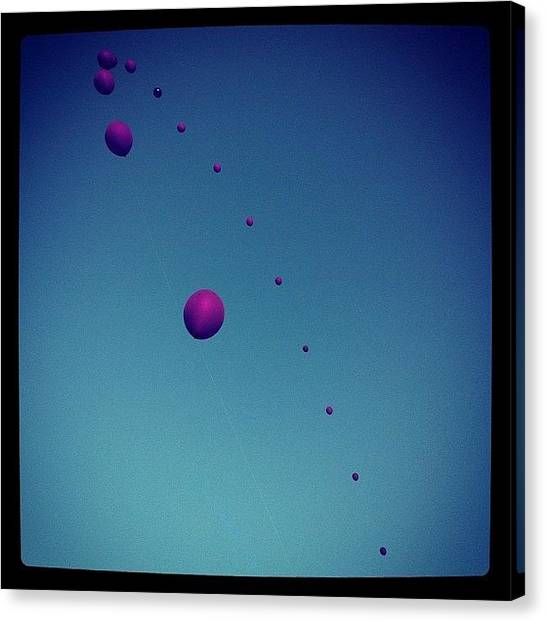 Balloons Canvas Print - Final Day Of Festivities. Let's Finish by Andres Cruz