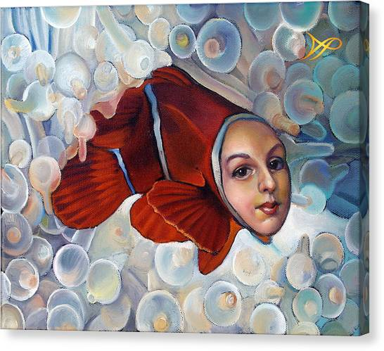 Clownfish Canvas Print - Finding Finessa by Patrick Anthony Pierson