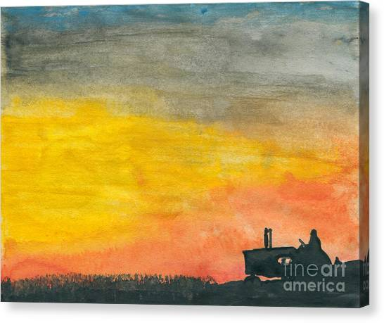 Finishing Up Canvas Print by R Kyllo