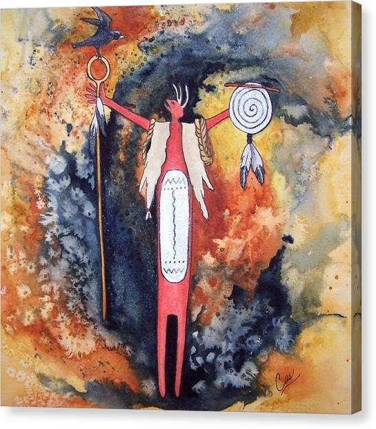 Fire And Brimstone Canvas Print by Karen Casciani