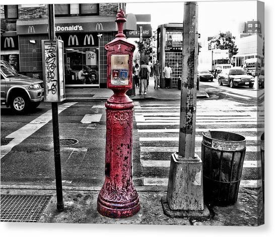 Fire Call Box Canvas Print by Bennie Reynolds