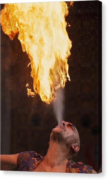 Fire Eater 2 Canvas Print