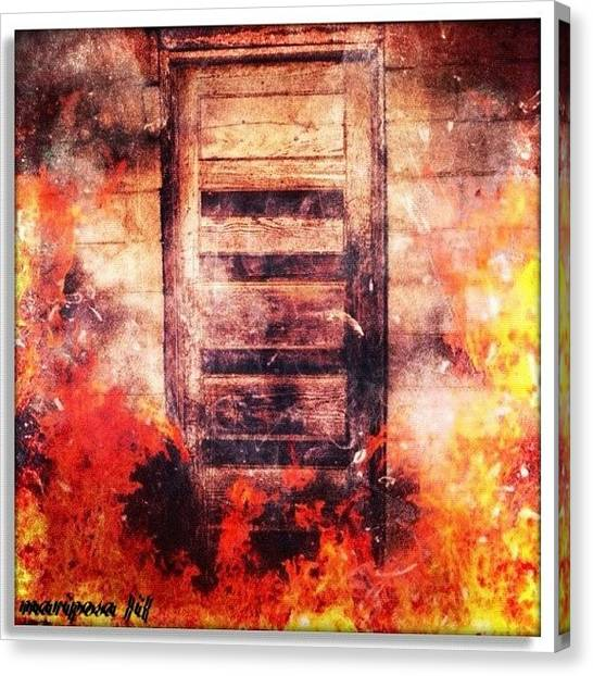 Edit Canvas Print - Fire Escape by Mari Posa