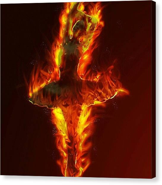 Ballet Canvas Print - #fire #explosion #dance #dancing by Dusty Anderson