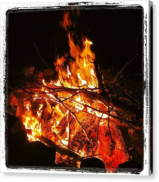 Flames Canvas Print - Fire From This Weekend. @nrapp by Rob Murray