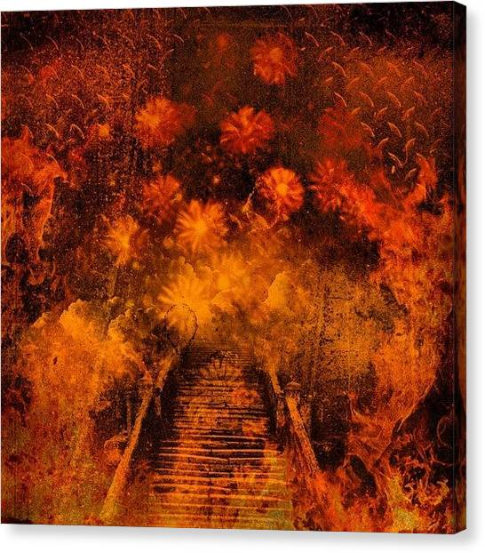 Hell Canvas Print - #fire #hot #hell #beauty #flower #focus by Shawna Poulter