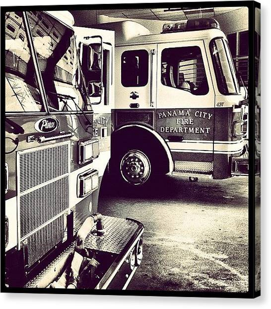 Firefighters Canvas Print - Fire House by Scott Pippin