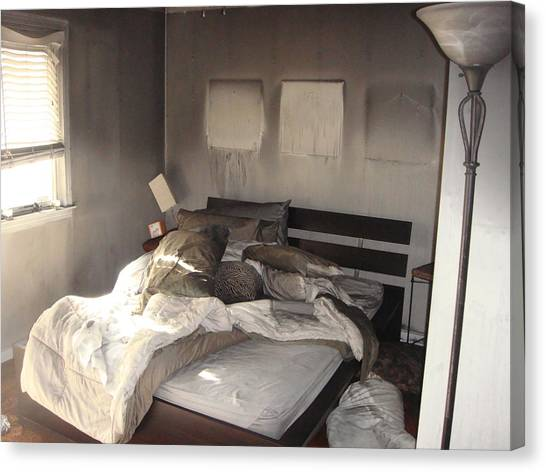 Fire In The Bed Canvas Print by Matthew Slowik