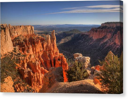 Fire In The Canyon Canvas Print