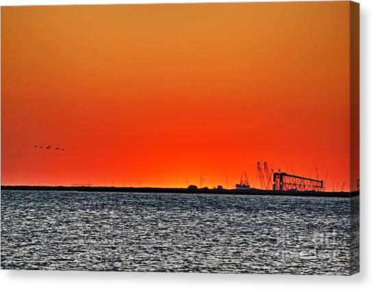 Fire In The Sky Canvas Print by Ken Williams