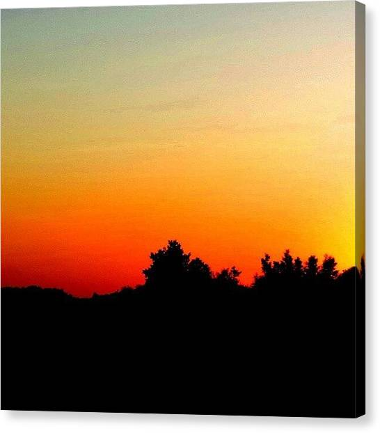 Saskatchewan Canvas Print - #fire In The #sky. #saskatchewan by Michael Squier
