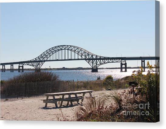 Fire Island Inlet Bridge Canvas Print by Scenesational Photos