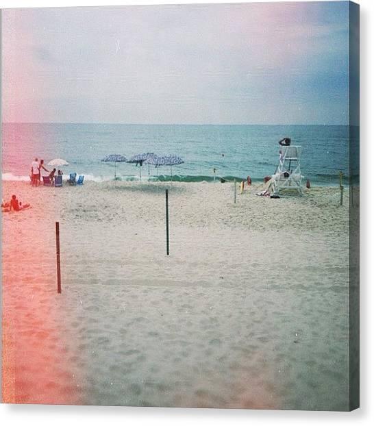 Lifeguard Canvas Print - Fire Island by Kristenelle Coronado