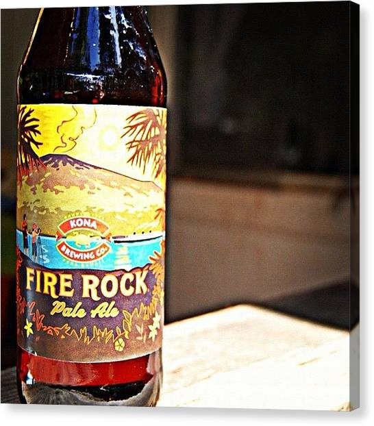 Beer Canvas Print - Fire Rock by Jessica Daubenmire