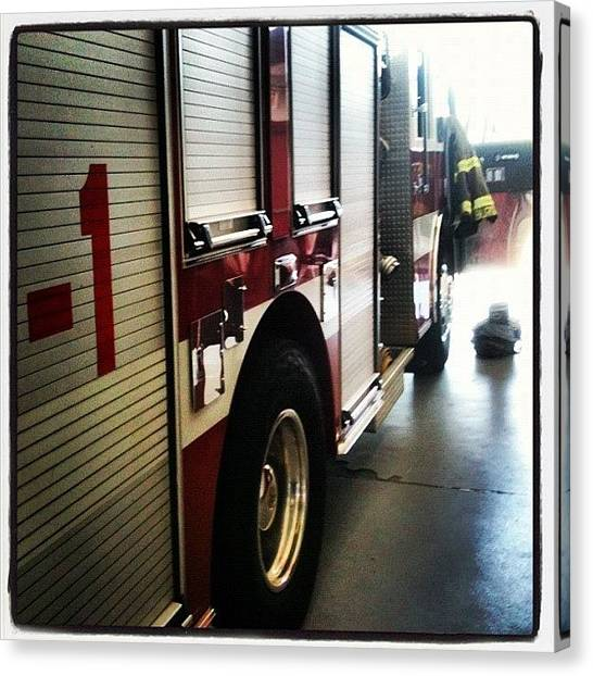 Firefighters Canvas Print - #fire #station #firestation #firehouse by Scott Pippin