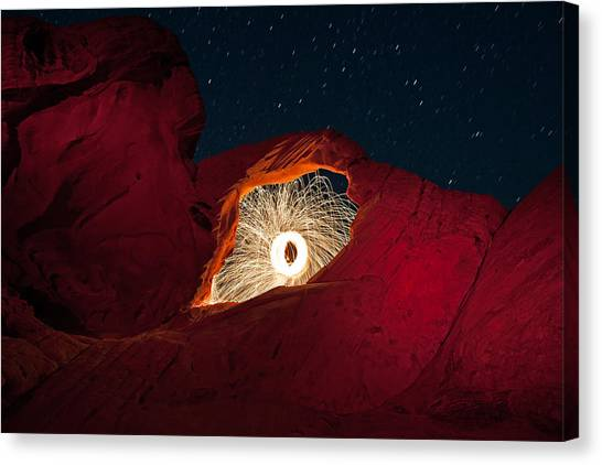 Valley Of Fire Canvas Print - Firearch by Rick Berk