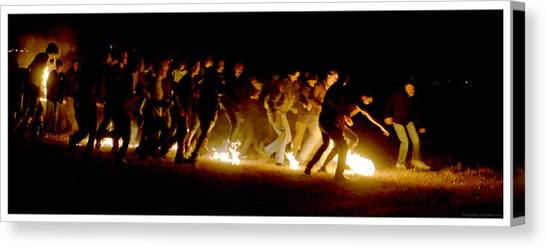 Fireball Game Canvas Print by Mark Ivins