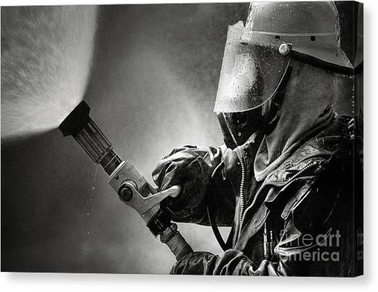 Volunteer Firefighter Canvas Print - Firefighter by Buchachon Petthanya