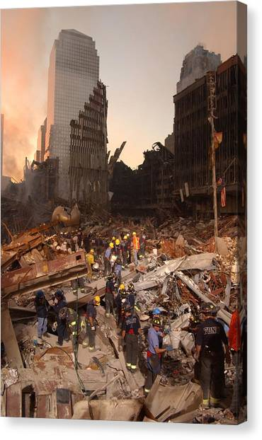 Nyfd Canvas Print - Firefighters And Search And Rescue by Everett
