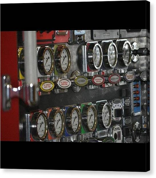 Firefighters Canvas Print - @firegal40 Here Is One I Did Of My Pump by James Crawshaw