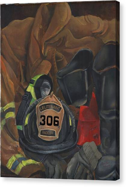 Fireman Commission  Canvas Print