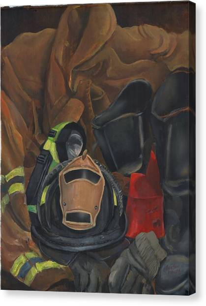 Fireman Personalized Canvas Print