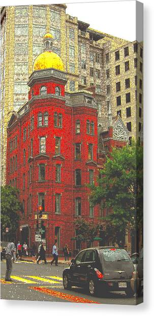 Firemans Building Canvas Print