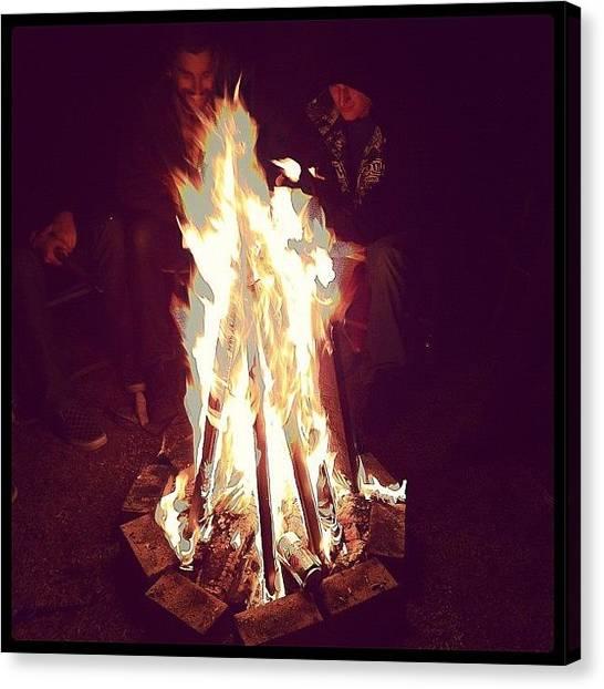 Flames Canvas Print - Firepit by Kristenelle Coronado