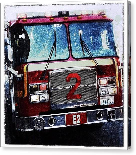 Seattle Canvas Print - Firetruck by T Catonpremise