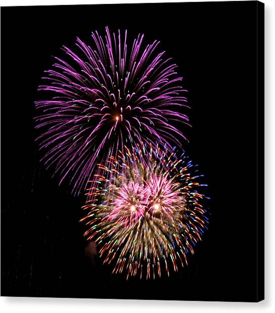 Firework Eyes Canvas Print by Chris Anderson