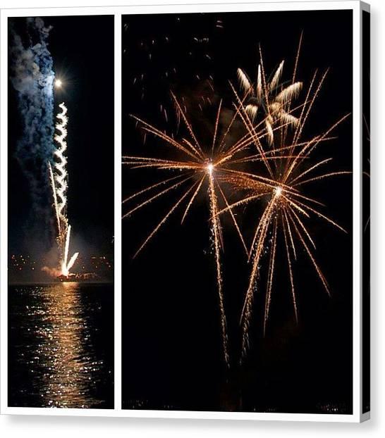 Fireworks Canvas Print - #firework #fireworks #fireworkshow by Julia Meyer