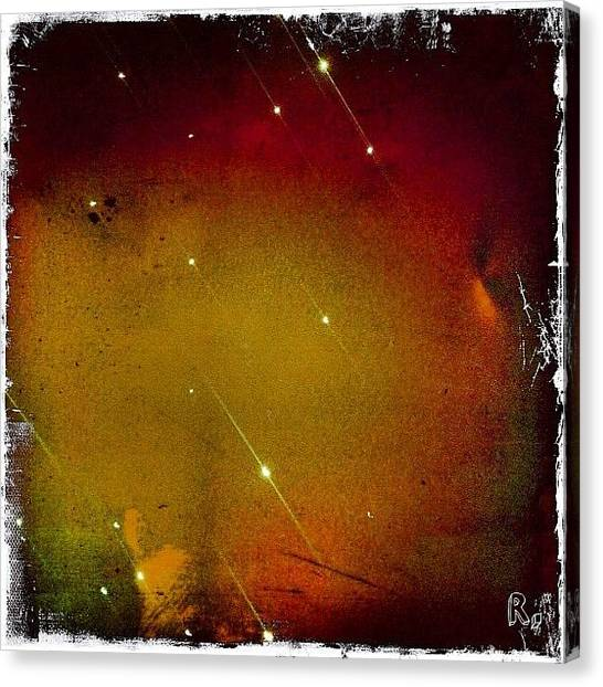 Outer Space Canvas Print - Firework Ufo✨🚀😃 by Roberta Robedeau