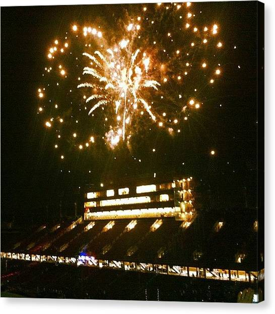 Stanford University Canvas Print - #fireworks After The #soccer Match At by Nero D