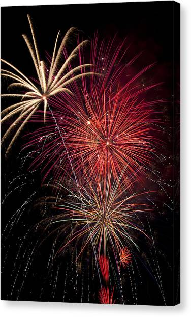 Pyrotechnics Canvas Print - Fireworks by Garry Gay
