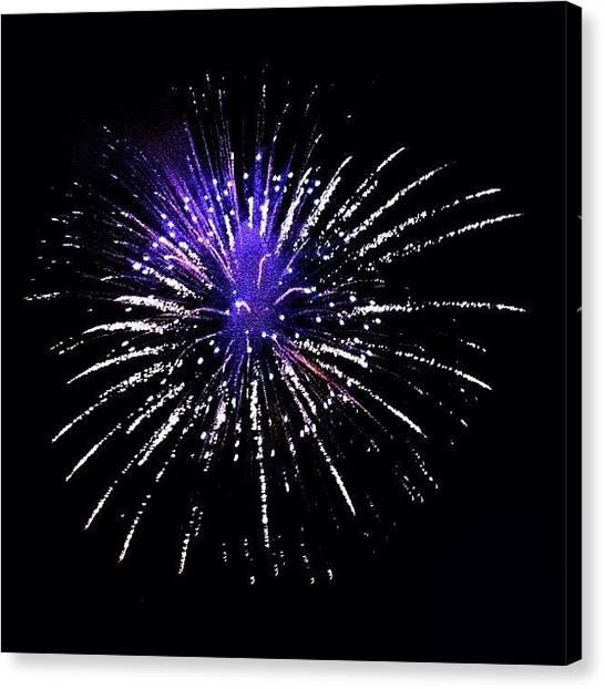 Fireworks Canvas Print - #fireworks In #basel #erschtaugust by Stoeps Meyer