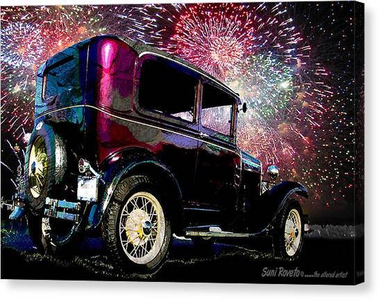 Fireworks In The Ford Canvas Print