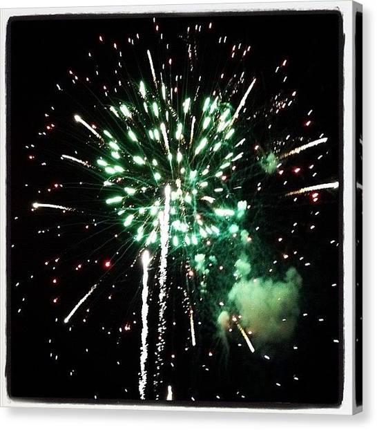 Fireworks Canvas Print - #fireworks #summertimefun by Angela Davis