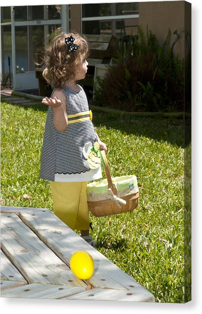 First Easter Egg Hunt Canvas Print