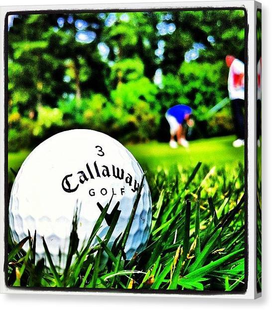 Golf Canvas Print - First #golf Round Of The Year by Joey El Burro