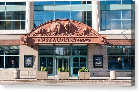 Buffalo Sabres Canvas Print - First Niagara Center by Guy Whiteley