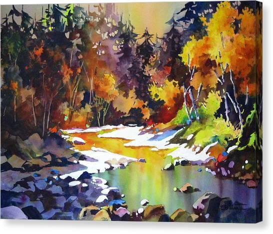 First Snow Up The Ashnola Canvas Print