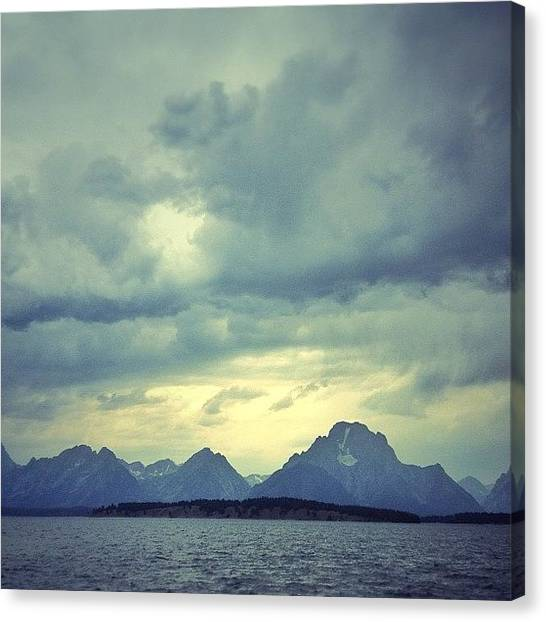 Wyoming Canvas Print - First Time Visiting The Tetons 😍 by Vanessa Wagener