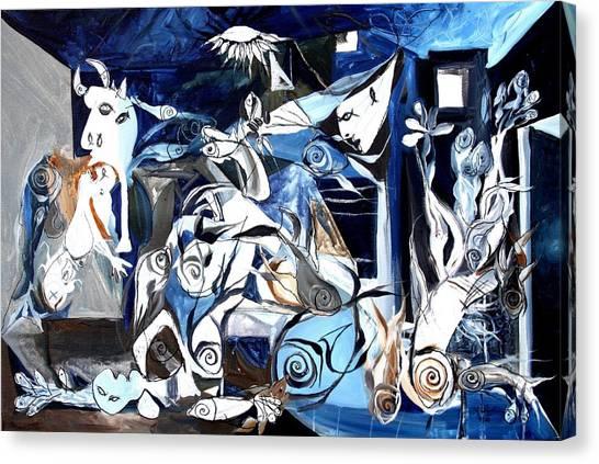 Fish Guernica Canvas Print