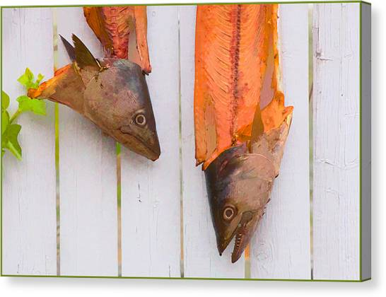 Fish Heads Canvas Print