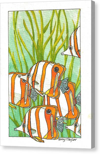 Fish School Canvas Print