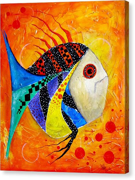 Fish Splatter II Canvas Print